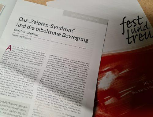 """Eine brüderliche Antwort auf Johannes Pflaums Zwischenruf """"Das Zeloten-Syndrom"""" / Georg Walter"""